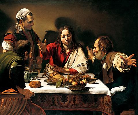 「エマオの晩餐」ミケランジェロ・メリージ・ダ・カラヴァッジョ