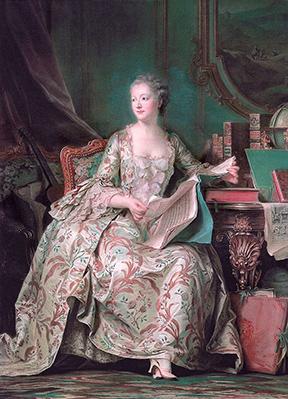 「ポンパドゥール夫人の肖像」モーリス・カンタン・ド・ラ・トゥール