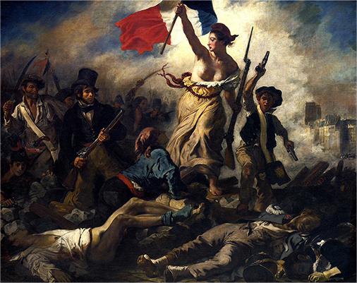 「民衆を導く自由の女神」ウジェーヌ・ドラクロワ