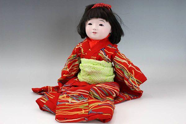 松乾斎東光 市松人形35㎝