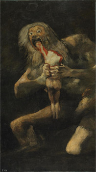 「我が子を喰らうサトゥルヌス」フランシスコ・デ・ゴヤ