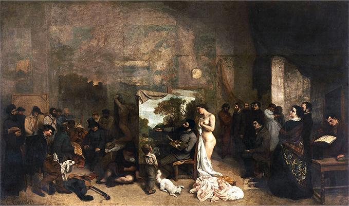 「画家のアトリエ」ギュスターヴ・クールベ
