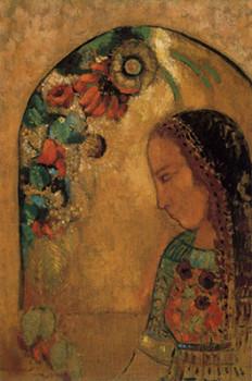 「花と女性」オディロン・ルドン