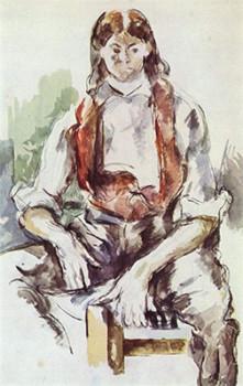 「赤いチョッキの少年」ポール・セザンヌ