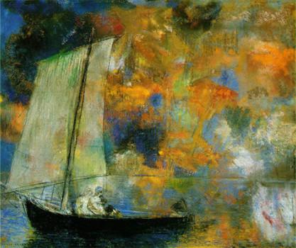 「花の雲」オディロン・ルドン