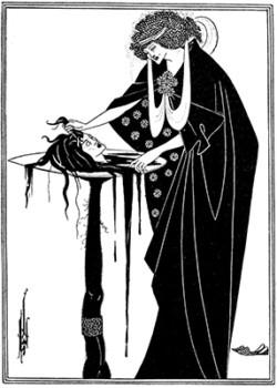 挿絵「サロメ」オーブリー・ビアズリー