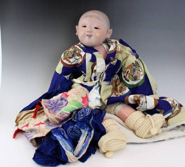 大正時代の市松人形 男の子 60cm
