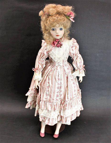 若月まり子 ビスクドール 花柄ドレス60cm