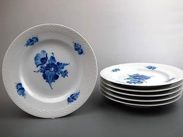 ロイヤルコペンハーゲン ブルーフラワー皿6客セット