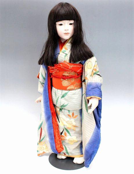 三輪輝子 ビスクドール 着物を着た少女66cm