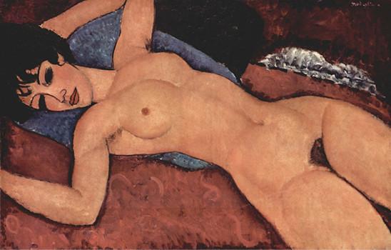 アメデオ・モディリアーニ「横たわる裸婦」