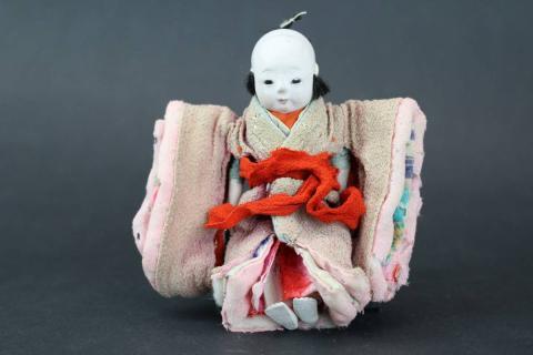 宝斎作 豆市松人形 女の子12cm