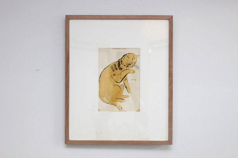 アンディ・ウォーホル「サムという名の猫 No.64A」リトグラフに手彩色