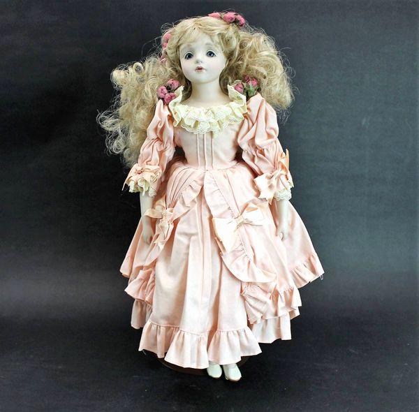 若月まり子 ビスクドール ピンクのドレス43cm