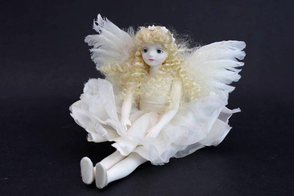 若月まり子 ビスクドール 白い天使26cm