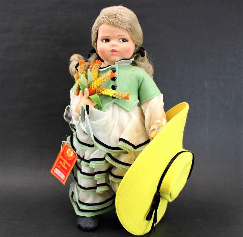 レンチドール 黄色い帽子の女の子 44cm