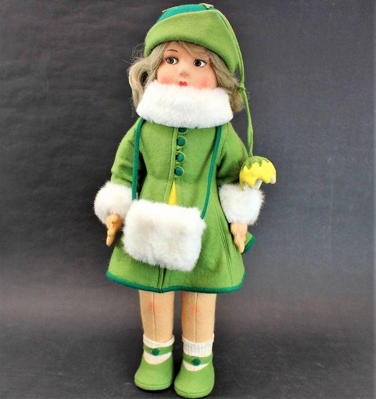 レンチドール 緑のコートを着た女の子 50cm