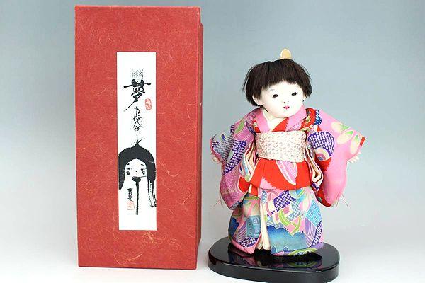 藤村明光(環作)夢市松人形 女の子21cm