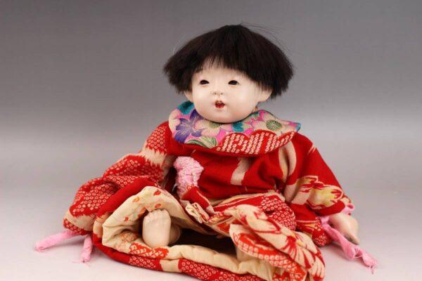 藤村明光の市松人形 女の子 30cm