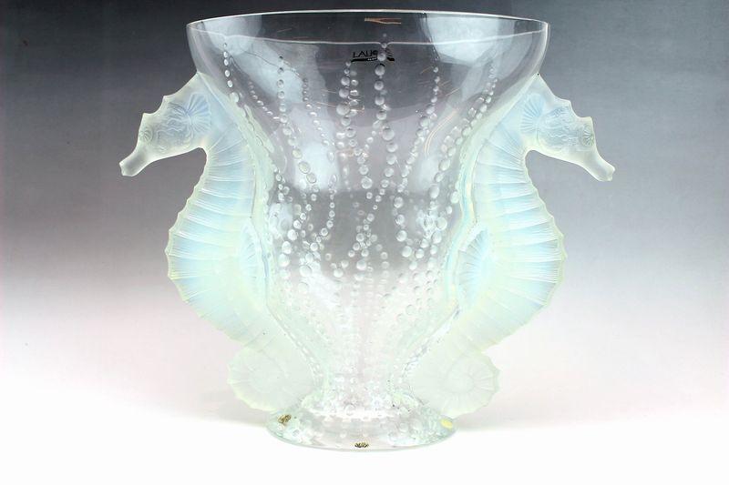 ラリック 花瓶 ポセイドン
