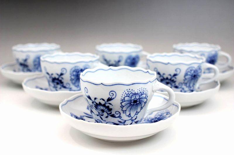 マイセン ブルーオニオン ティーコーヒー兼用カップ&ソーサー6客