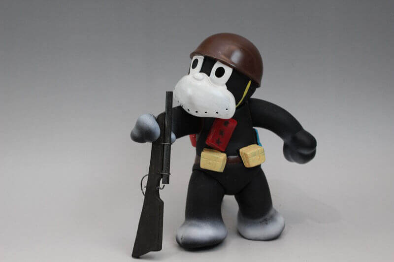 マルサン のらくろ 伍長ソフビ人形 1969年製