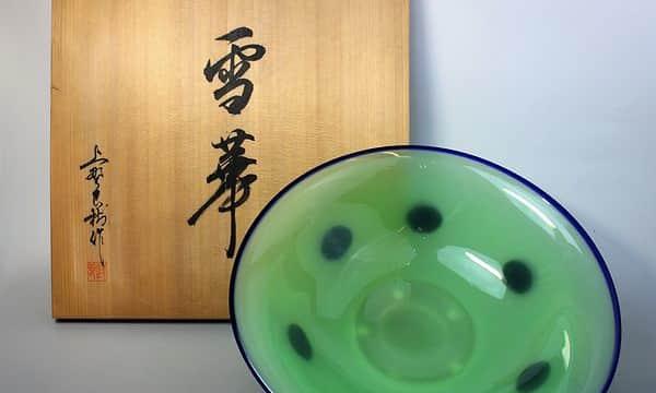 上野良樹作の雪華ガラス鉢