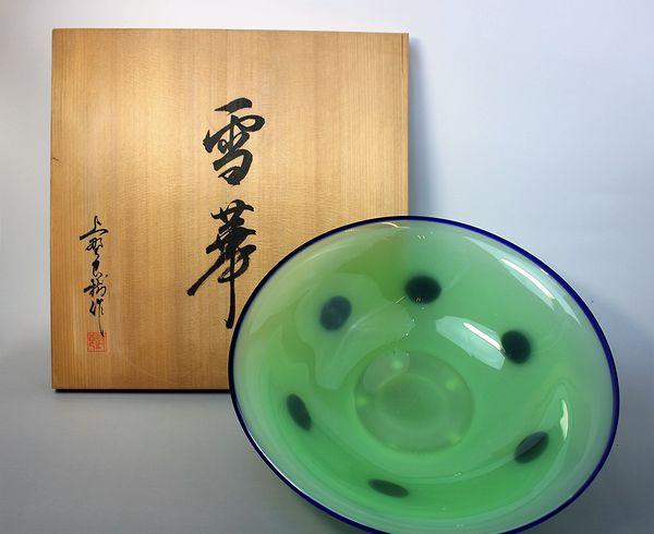 上野良樹作 雪華ガラス鉢