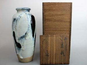 清水六兵衛作の瀬戸唐津花瓶