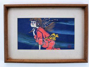 滝平二郎の木版「少女」