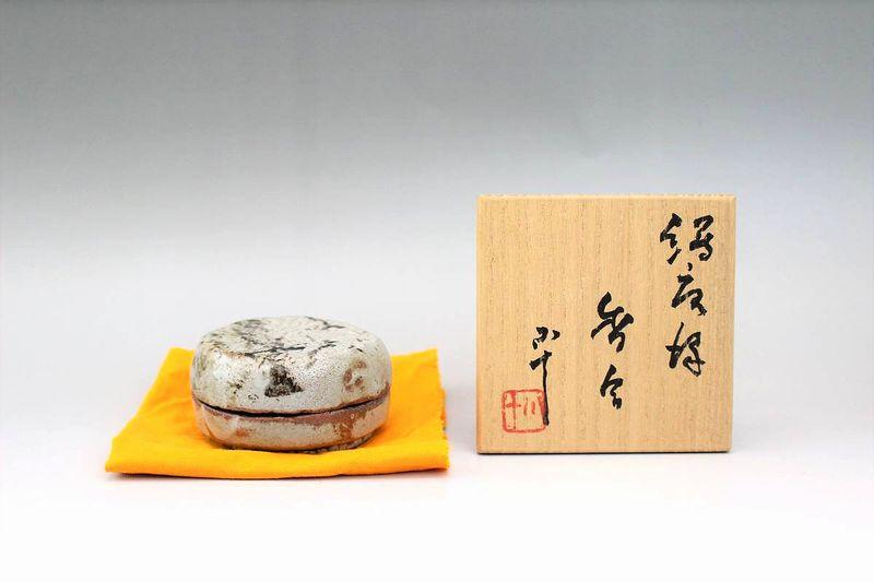 西岡小十作 絵唐津香合