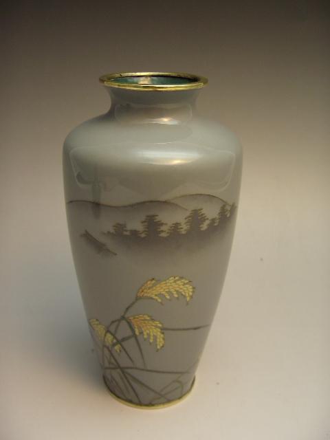 七宝焼 秋景図花器
