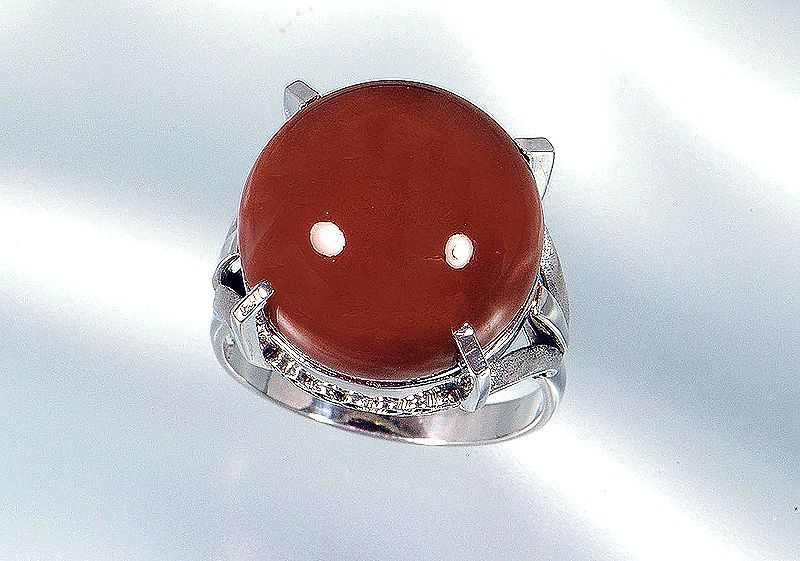 直径16.0mmの珊瑚指輪
