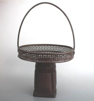 立軒作 竹籠
