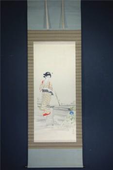 中村左洲の美人画 加賀千代尼