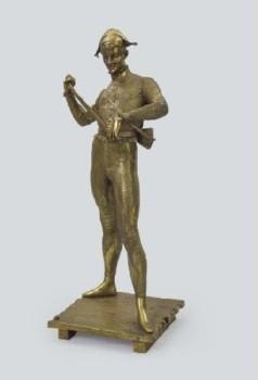 ポール・デュボア ブロンズ像『ハーレクイン』