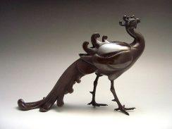 銅製鳳凰型香炉