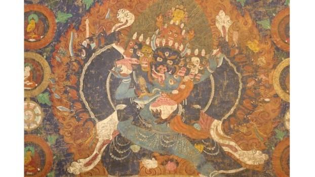 チベット仏教曼荼羅図掛軸