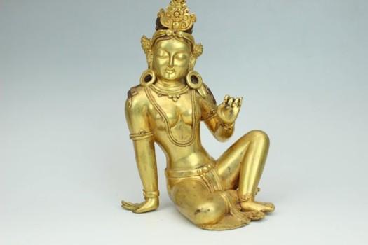 金銅輪王坐菩薩像