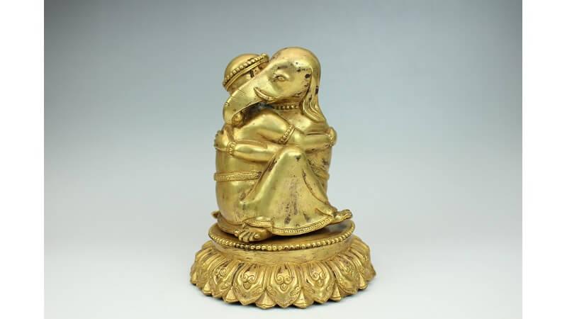 仏像 鍍金大聖歓喜天