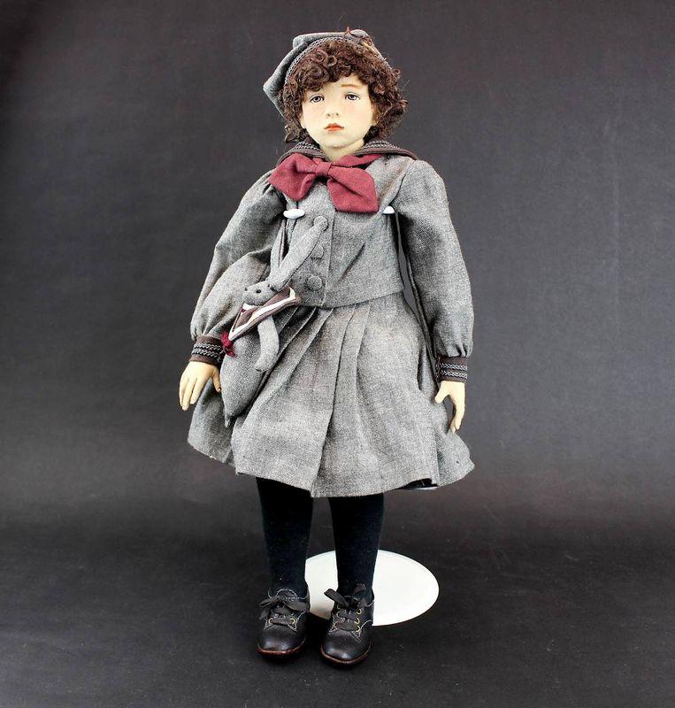 小林美枝子 創作人形 セーラー服の女の子 43cm