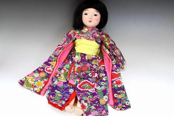 鳴き人形 女の子 44cm