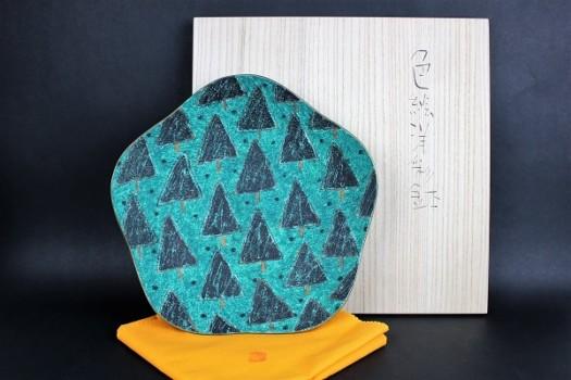 前田正博作 色絵洋彩鉢