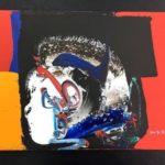 マナブ間部 油彩抽象画