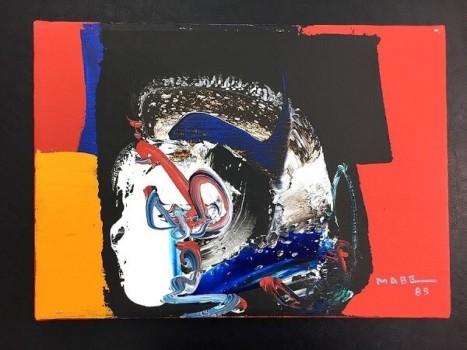 マナブ間部 油彩抽象絵画