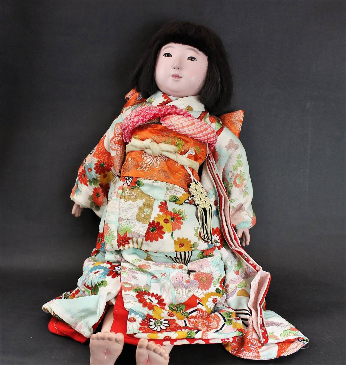 滝沢光龍斎 市松人形 女の子60cm