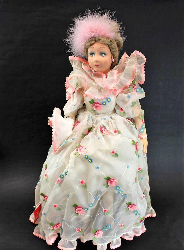レンチドール 花柄レースドレスの女の子 65cm