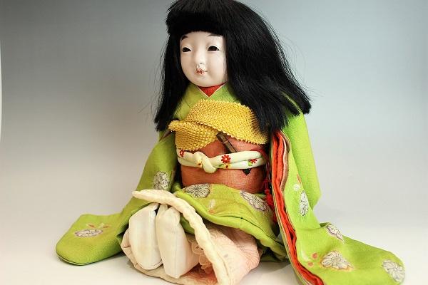 藤村明光 絞り染め着物の女の子 42cm