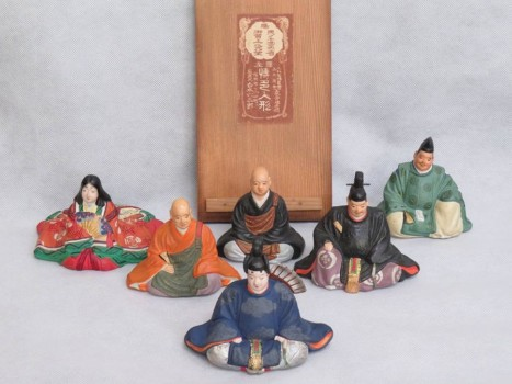 博多人形師 白水六三郎作『六歌仙』