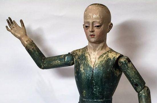 フランス製 アンティーク木製関節人形